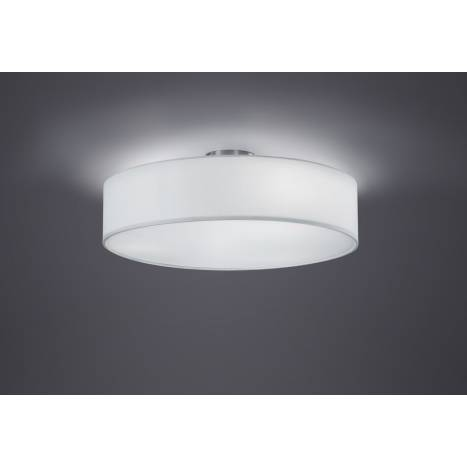Trio Texti ceiling lamp 3L white shade