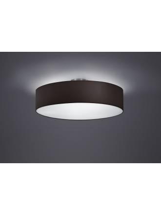 Trio Texti ceiling lamp 3L black shade