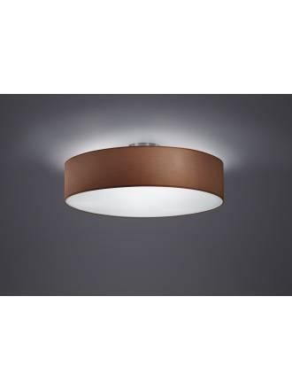Trio Texti ceiling lamp 3L brown shade