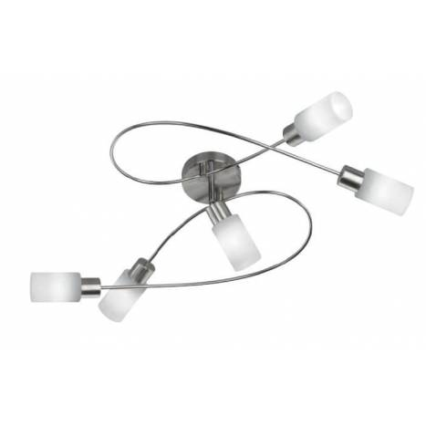 Trio Strahler ceiling lamp 5L LED nickel matt