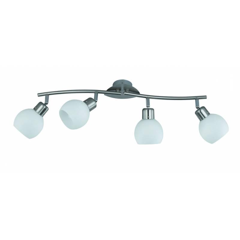 TRIO Ballu spotlight 4L LED inox and glass