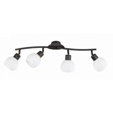 Regleta de focos Ballox 4 luces LED oxido