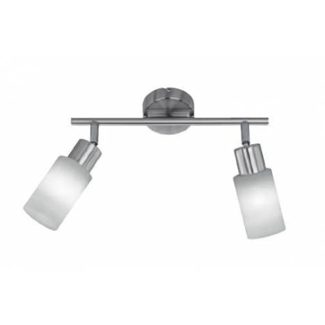 Trio Strahler spotlight 2L LED nickel and glass