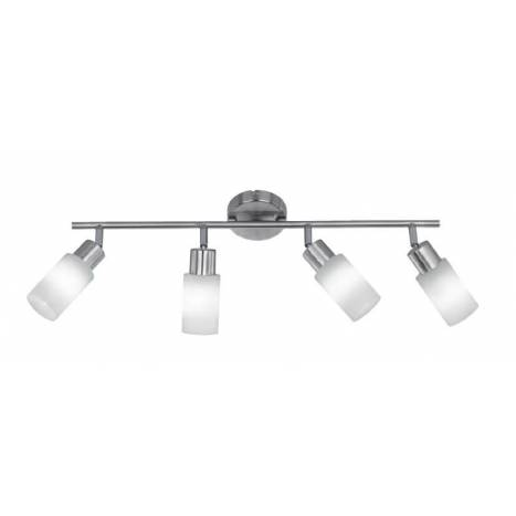 Trio Strahler spotlight 4L LED nickel and glass