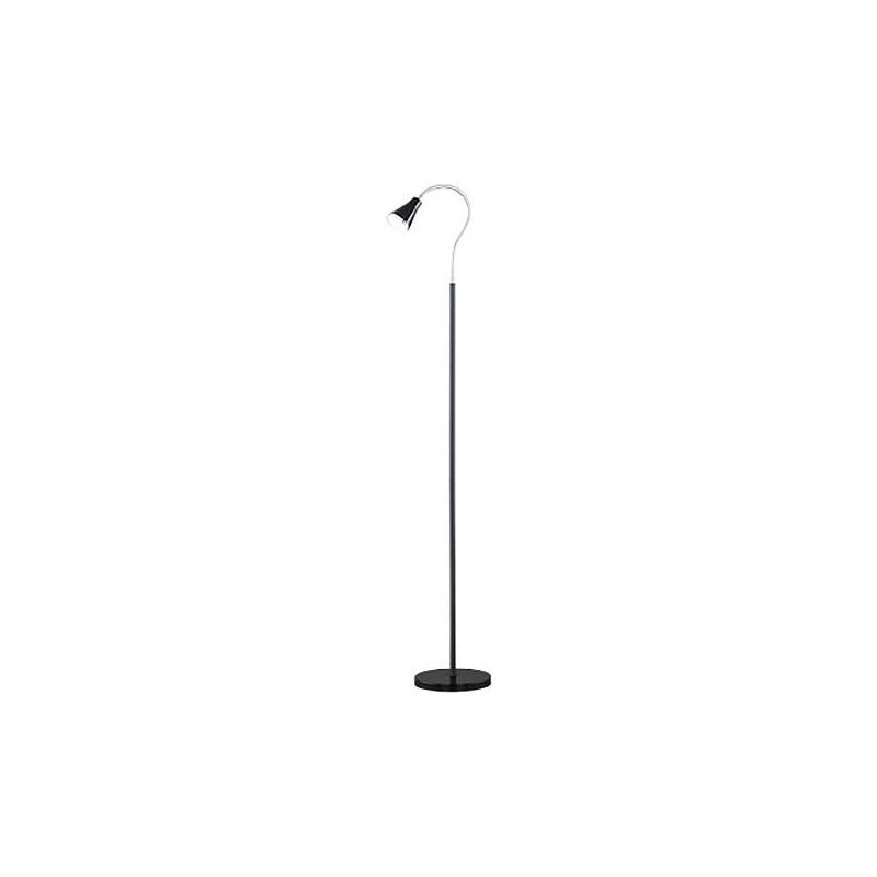 Trio arras floor lamp led 5w black for Led articulated floor lamp