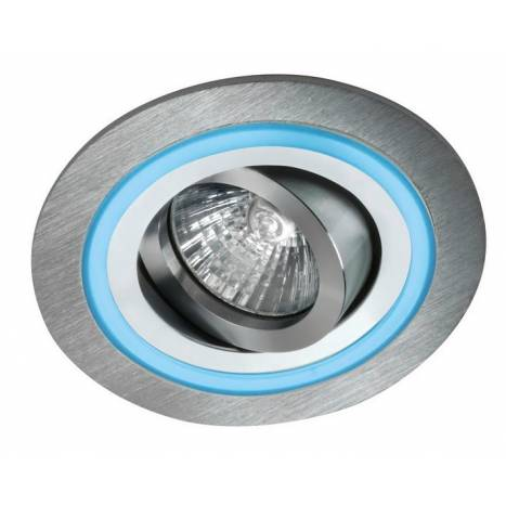 CRISTALRECORD Aret 1 round recessed light LED blue