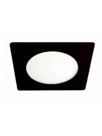 Downlight LED 20w Novo lux cuadrado cristal negro Cristalrecord