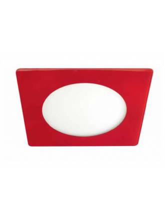 CRISTALRECORD Novo Lux square downlight LED 20w red