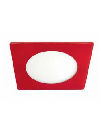 Downlight LED 20w Novo lux cuadrado cristal rojo Cristalrecord