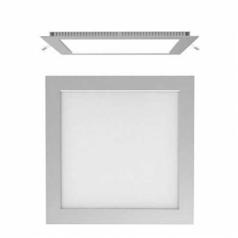 Downlight LED 20w cuadrado gris extraplano 1480 lumenes