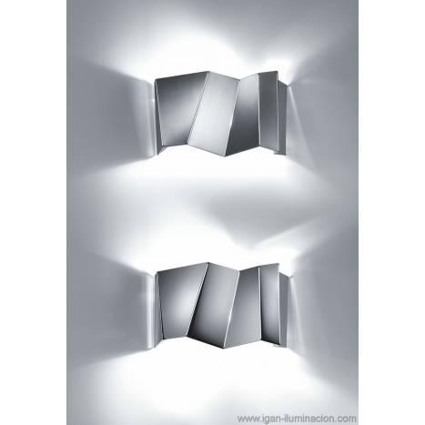 Aplique de pared Future 2 luces metal plegado colores
