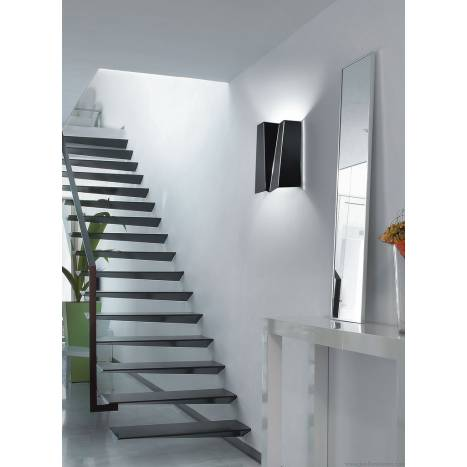 Aplique de pared Future tall 2 luces metal plegado colores