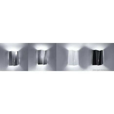 Aplique de pared Future tall 2 luces metal plegado colores