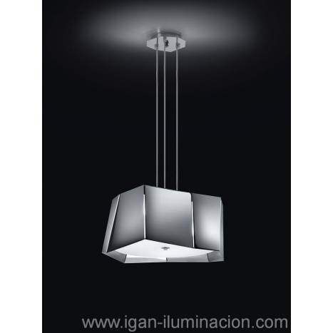BRILLIANCE Axis pendant lamp 3L chrome