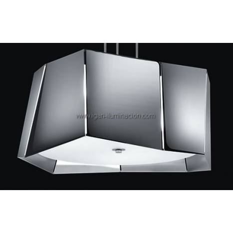Plafon de techo Axis 3 luces metal plegado colores