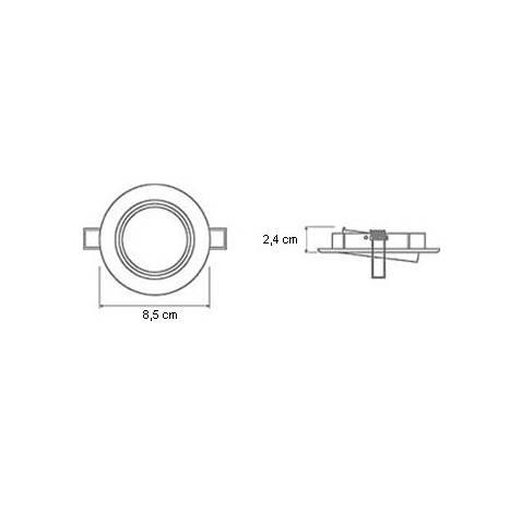 Foco empotrable 202 circular cromo brillo