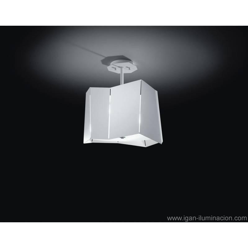 Plafon de techo Axis 2 luces metal plegado colores