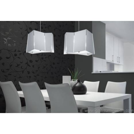 BRILLIANCE Axis pendant lamp 2 shade white