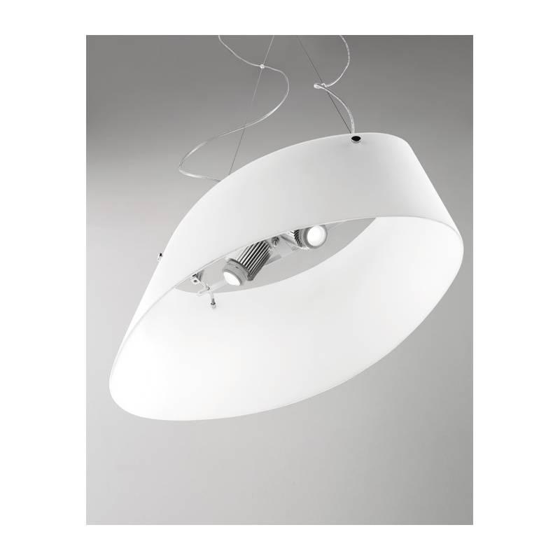 L mpara colgante aliki sp g cristal soplado blanco vistosi - Colgantes de cristal para lamparas ...