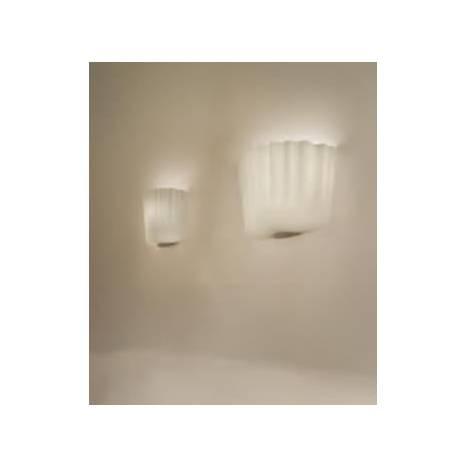 VISTOSI Cloth wall lamp 1L blown glass