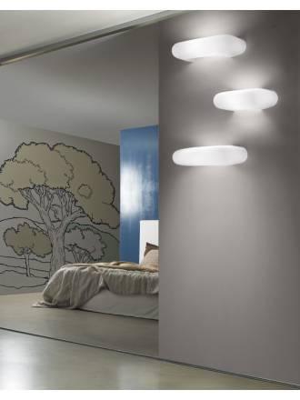 VISTOSI Dos wall lamp white glass