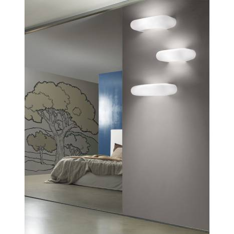 VISTOSI Dos wall lamp white glass