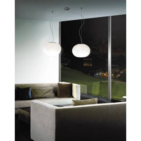 VISTOSI Lucciola pendant lamp 2L blown glass