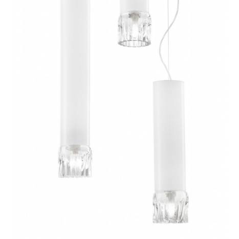 VISTOSI Smoking pendant lamp white glass