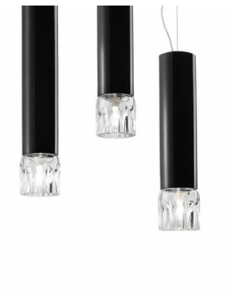 VISTOSI Smoking pendant lamp black glass