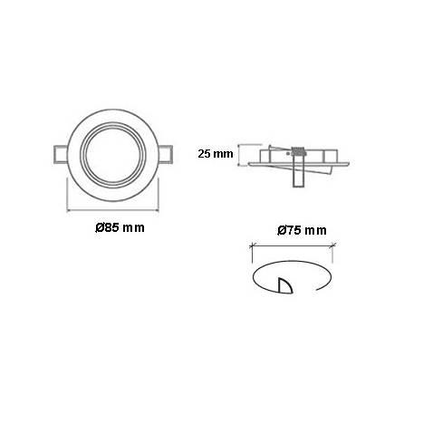 Foco empotrable 202 circular acero inox