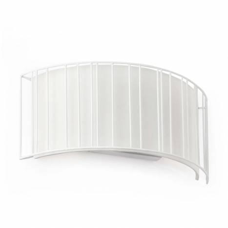 FARO Linda wall lamp 2L fabric shade