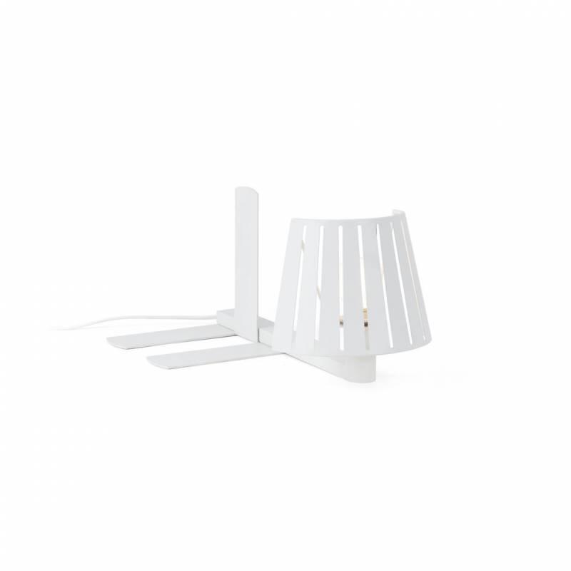 Lampara de estanteria mix 1 luz en metal color blanco faro - Lampara estanteria ...
