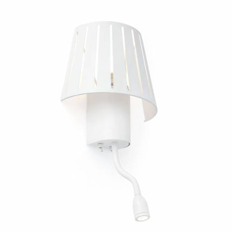 FARO Mix wall lamp with LED reader white