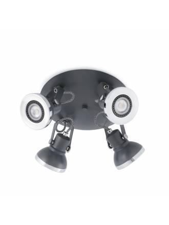 FARO Ring surface spotlight 4L grey