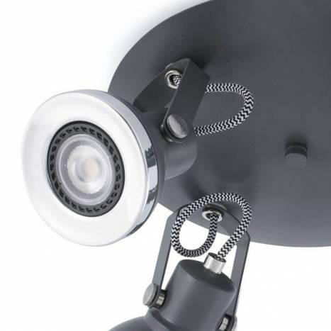 Plafon de techo Ring 4 luces gris de Faro