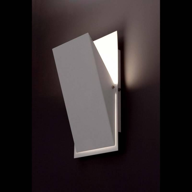Aplique de pared homs 1 luz r7s led blanco faro - Iluminacion de pared ...