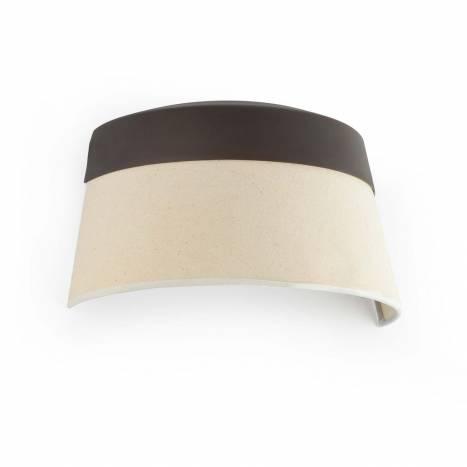 FARO Sac wall lamp 2L brown and fabric