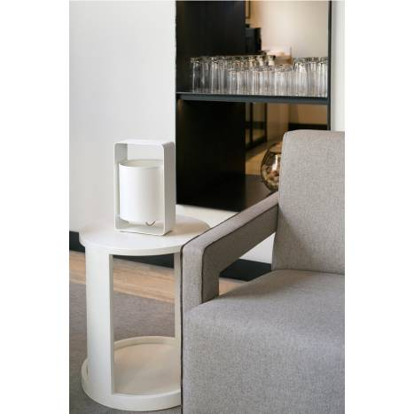 FARO Lula table lamp 1L white and fabric