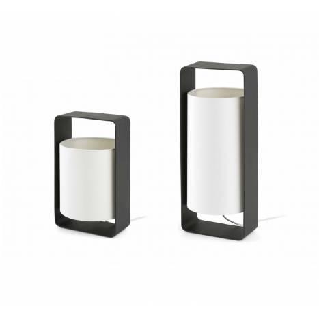 FARO Lula table lamp 1L black and fabric