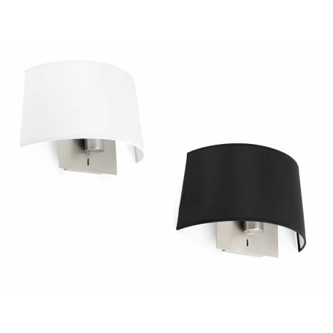 FARO Volta wall lamp 1L nickel