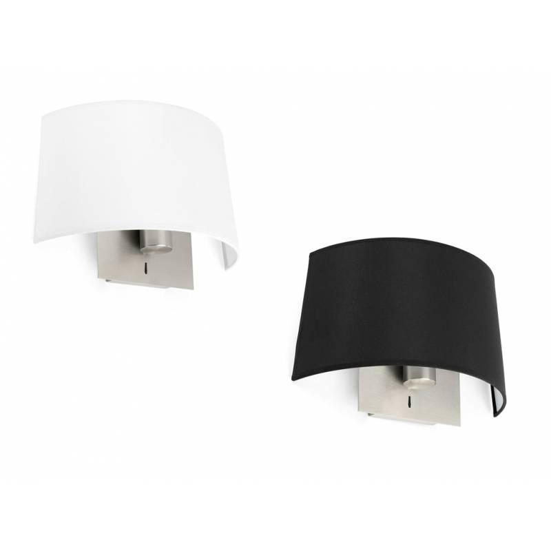 FARO Volta wall lamp 1L nickel