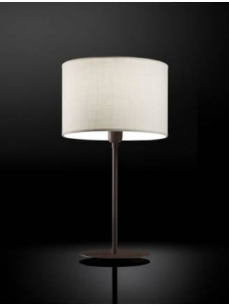 BRILLIANCE Flamingo table lamp brown fabric colors