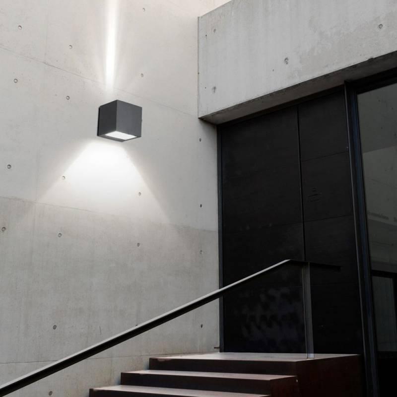 Aplique de pared wilson led 6w gris leds c4 - Aplique pared led ...