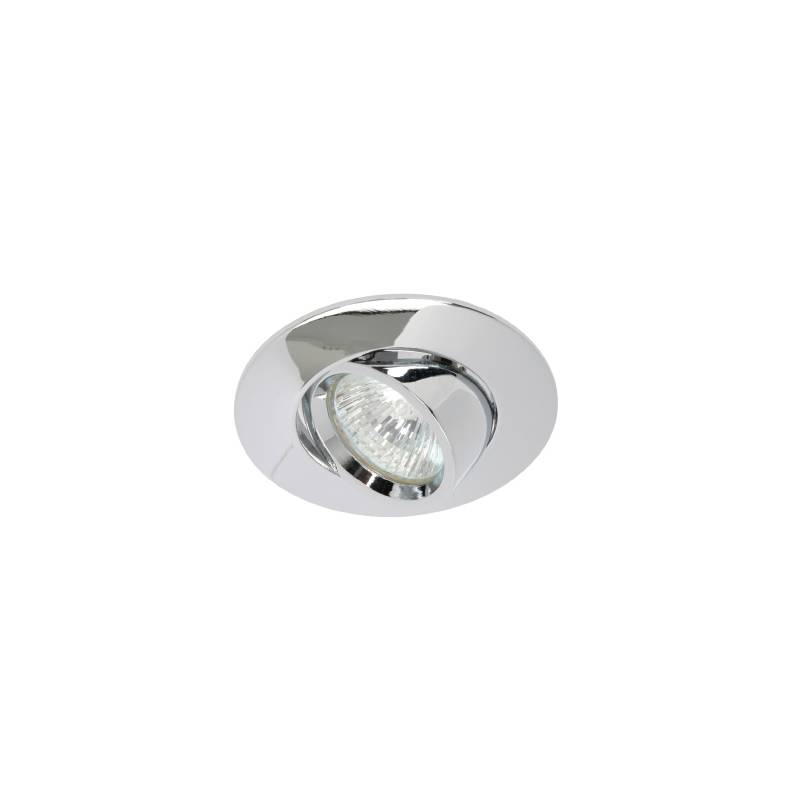 Foco empotrable 203 circular cromo brillo