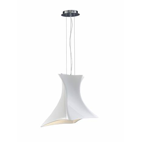Lampara colgante Twist color blanco de Mantra