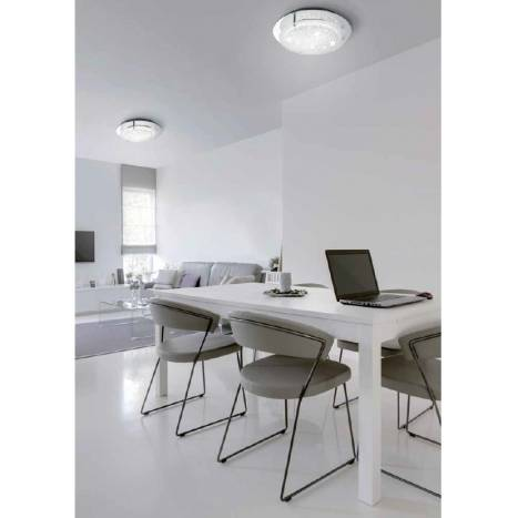Mantra Crystal ceiling lamp LED 18w round 36cm
