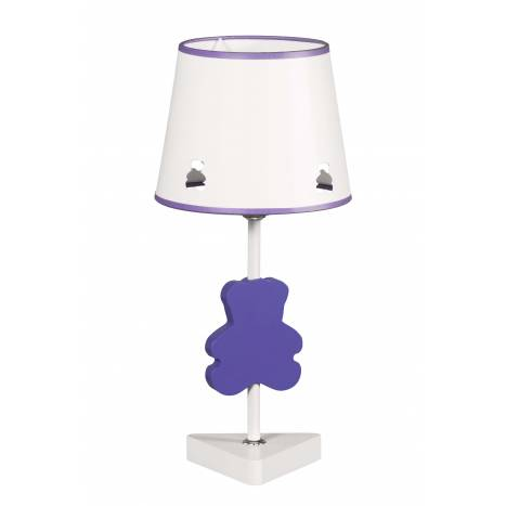 GLOBAL LUZ Bear table lamp lilac lampshade