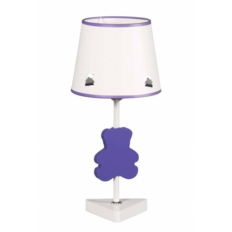 Lampara de mesa Bear en lila de de Global luz