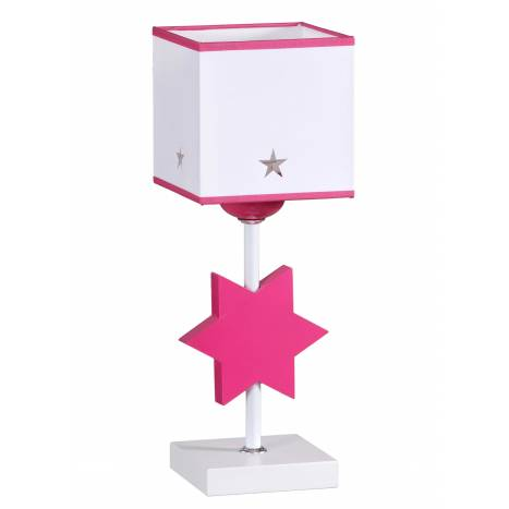 Lampara de mesa Star en rosa de Global luz