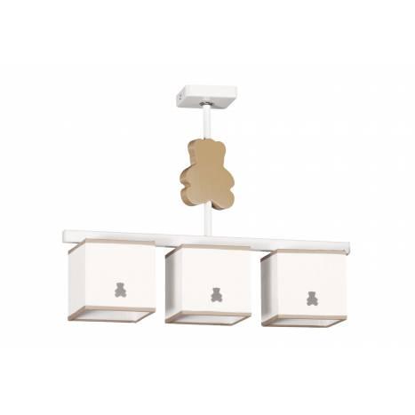 GLOBAL LUZ Bear ceiling lamp 3L brown lampshade